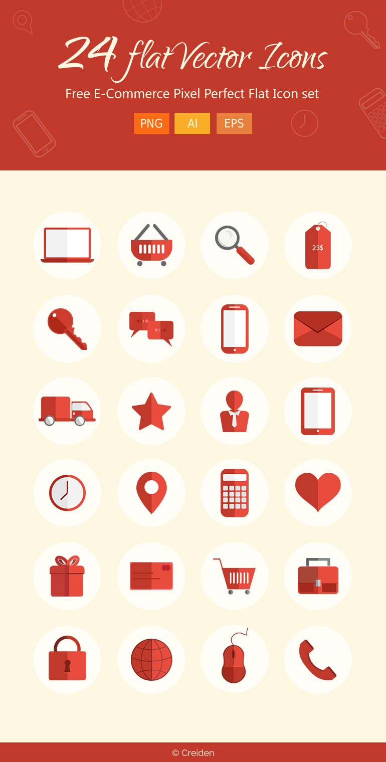 free e-commerce icons set