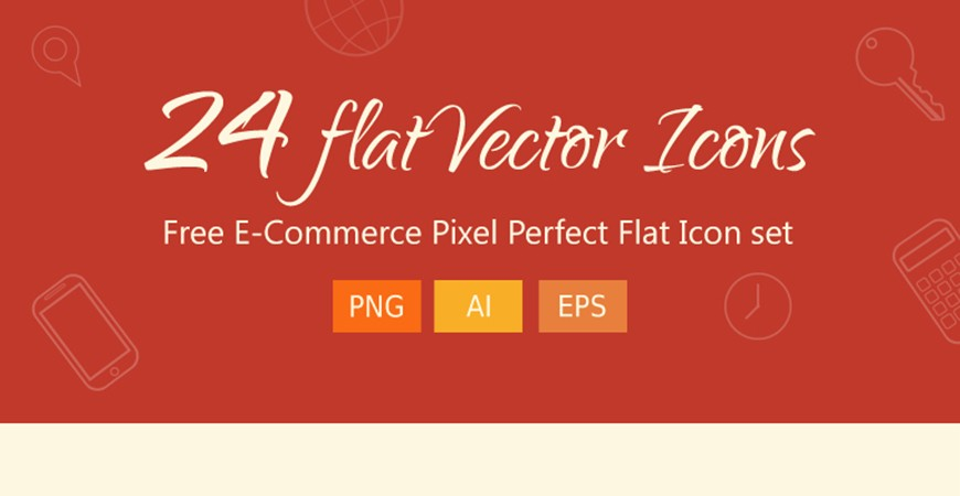 Free E-Commerce Pixel Perfect Flat Icons set