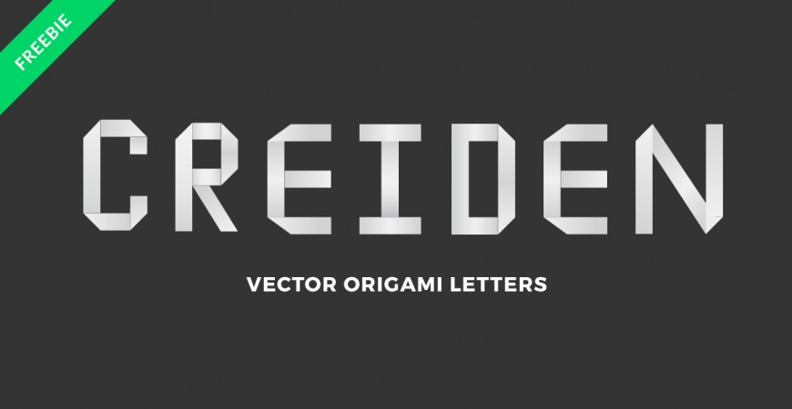 'Creiden' written using the Free Origami Letters offered in this post