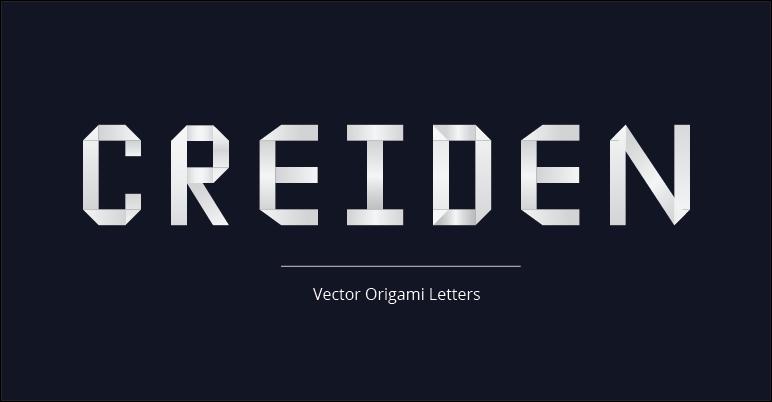 origami letters freebie