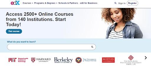 edx website header image